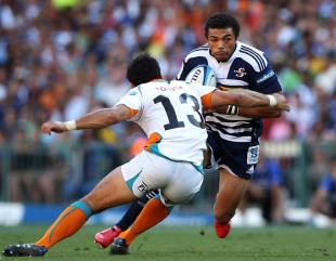 Stormers winger Bryan Habana hits full stride, Stormers v Cheetahs, Super Rugby, DHL Newlands Stadium, Cape Town, South Africa, March 5, 2011