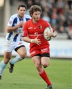 Toulouse's Maxime Medard accelerates away from the Bayonne cover