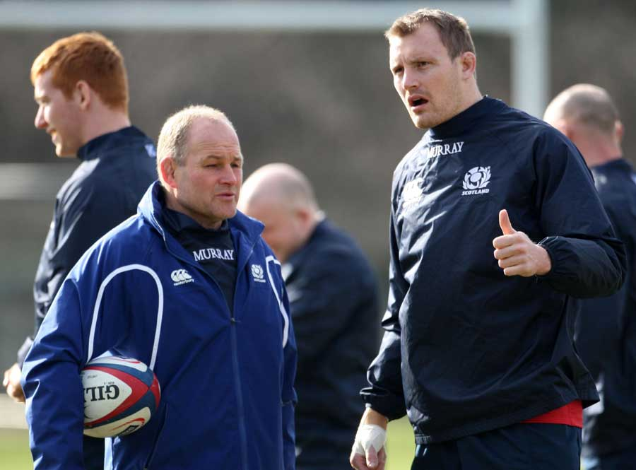 Scotland coach Andy Robinson and captain Al Kellock