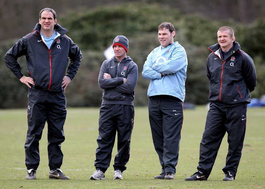 Martin Johnson, Mike Ford, John Wells and Graham Rowntree