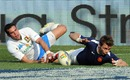 France wing Vincent Clerc rounds off a solo try