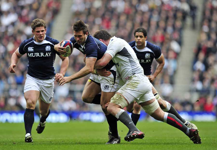 Scotland wing Simon Danielli is halted