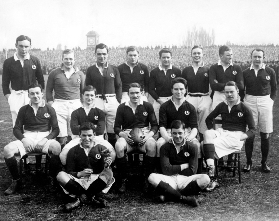 The Scotland team pose ahead of their clash with England