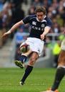 Scotland's Ruaridh Jackson slots a drop goal
