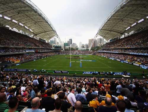 A general view before the Bledisloe Cup match between the Australian Wallabies and the New Zealand All Blacks at Hong Kong Stadium in Hong Kong, China on November 1, 2008.