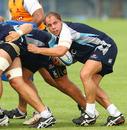 Waratahs skipper Phil Waugh controls the ball at a maul