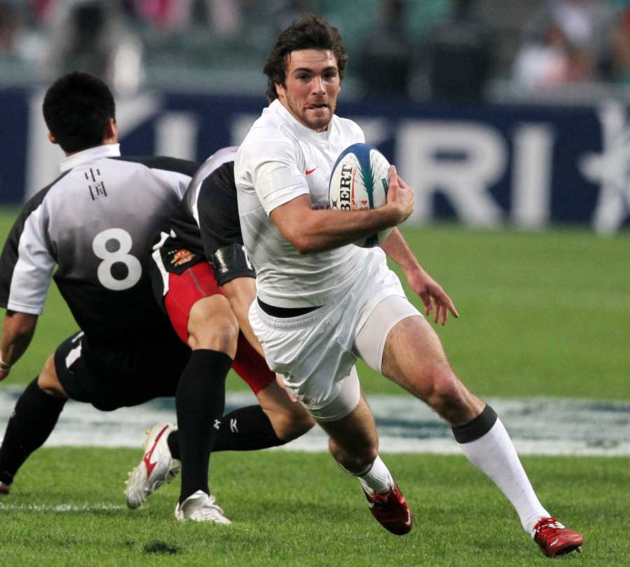 England's Mat Turner in action against China