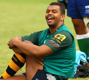 Kurtley Beale enjoys a laugh during training, Waratahs training session, Moore Park, Sydney, Australia, March 29, 2011