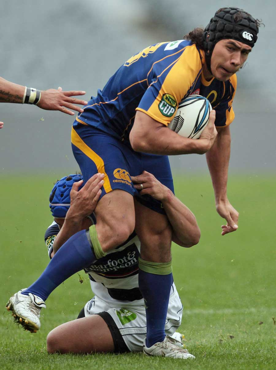 Otago's Josh Tatupu looks to force an opening