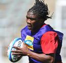 Lions hooker Bandise Maku takes a pass