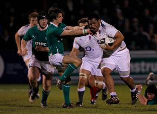 England prop Mako Vunipola charges forward