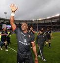 Toulouse flanker Yannick Nyanga celebrates victory