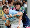Stade's Mauro Bergamasco shackles Bayonne hooker Arnaud Heguy
