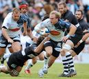 Agen's Jean Monribot makes a break against Brive