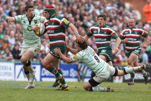 Leicester prop Marcos Ayerza breaks clear