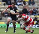 Saracens' Schalk Brits evades Gloucester's Jim Hamilton
