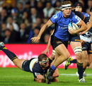 Western Forces' Nick Cummins breaches the Brumbies defence