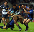 Brumbies winger Henry Speight bursts through the Western Force defence