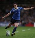 Leinster fly-half Jonny Sexton kicks a penalty