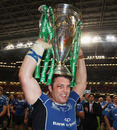 Leinster's Sean O'Brien parades the Heineken Cup