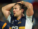 Brumbies skipper Rockey Elsom takes a moment