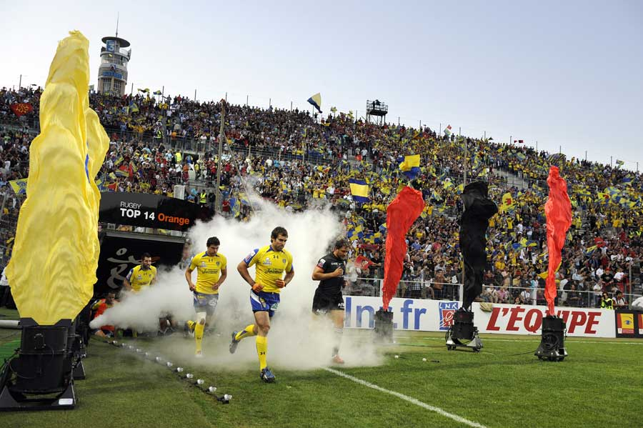 Clermont Auvergne fly-half Brock James takes to the field
