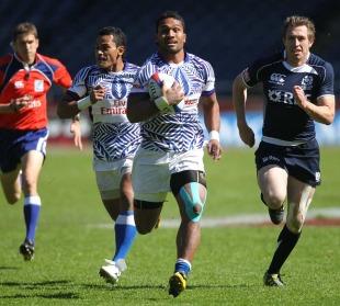 Afa Aiono runs clear for Samoa