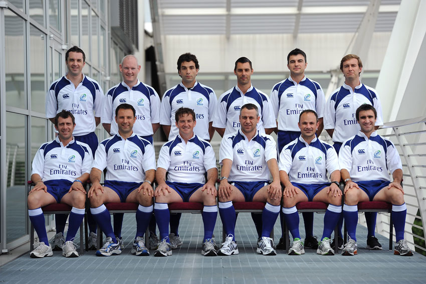 The referees photocall prior to the IRB Junior World Championship 2011