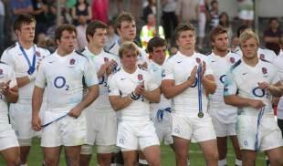 England applaud New Zealand following their IRB JWC Final defeat