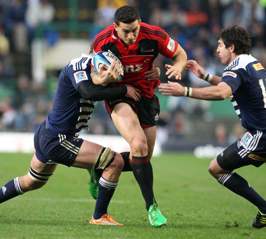 The Crusaders' Sonny Bill Williams Forces An Opening