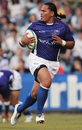 Samoa's Alesana Tuilagi races in for a try