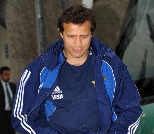 Argentina's team advisor Fabien Galthie