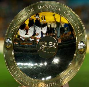 The Mandela Challenge Plate, contested by Australia and South Africa, July 7 2007