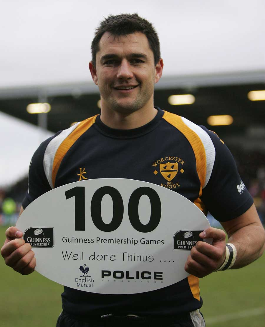 Guinness Pro12: Worcesters' Thinus Delport Celebrates His 100th Game