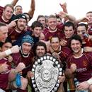 Southland celebrate after regaining the Ranfurly Shield