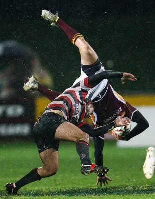 Southland's Robbie Robinson takes a tumble