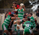 Reece Robinson claims a lineout for Manawatu