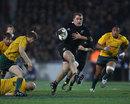New Zealand flanker Owen Franks breaks upfield