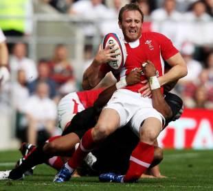Wales fullback Morgan Stoddart breaks his leg