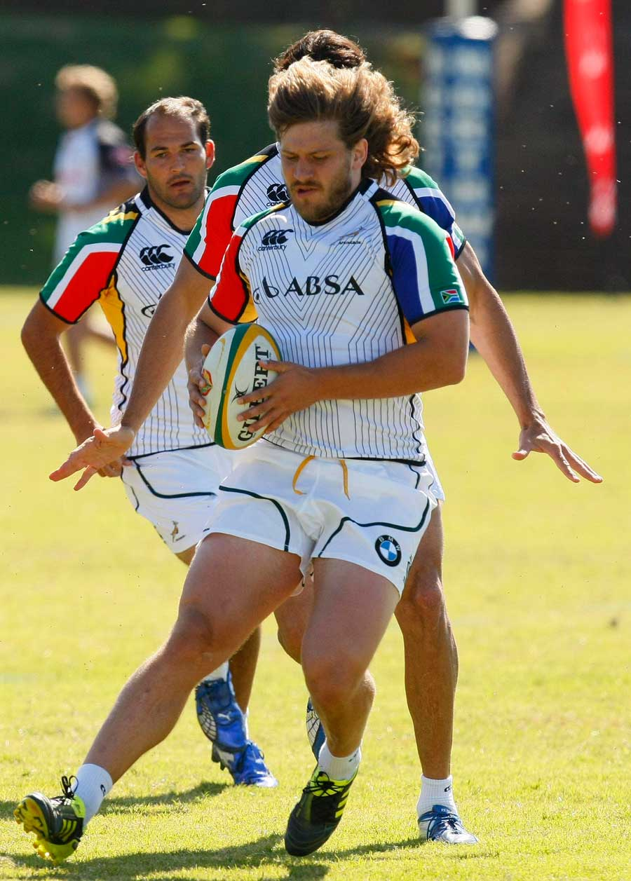 South Africa's Frans Steyn puts the brakes on