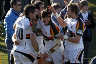 Waikato captain Marty Holah celebrates with his side