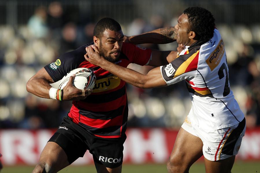 Canterbury's Patrick Osborne tries to break away
