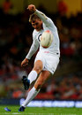 Fly-half Toby Flood lands an early penalty for England