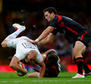 England centre Mike Tindall is upended