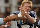 Scotland's Ben Cairns take ball into contact