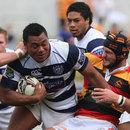 Auckland's Pauliasi Manu makes a strong run