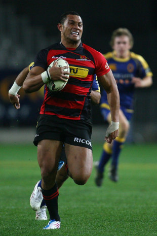 Canterbury's Robbie Fruean breaks clear