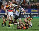 Canterbury's Patrick Osborne takes on Waikato's Marty Holah