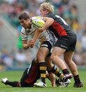 Wasps scrum-half Charlie Davies drives forward