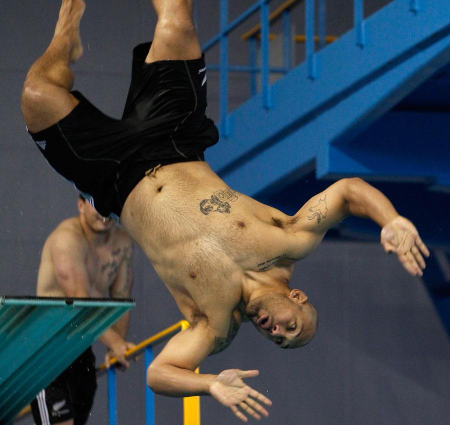 All Blacks prop John Afoa takes a dive